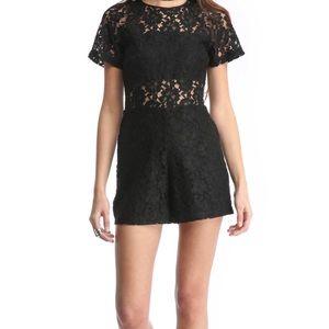 WAYF Black Lace Romper